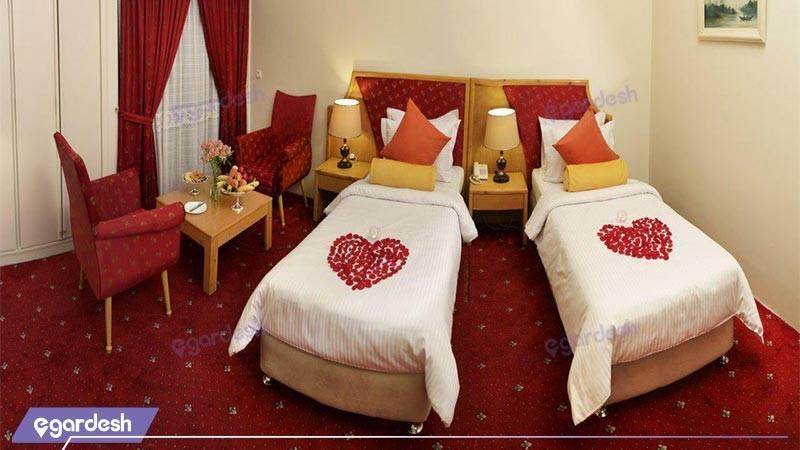 اتاق دو تخته توئین کلاسیک هتل پردیسان