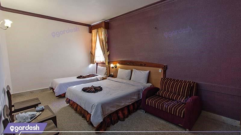 اتاق سه نفره هتل پارمیدا مشهد