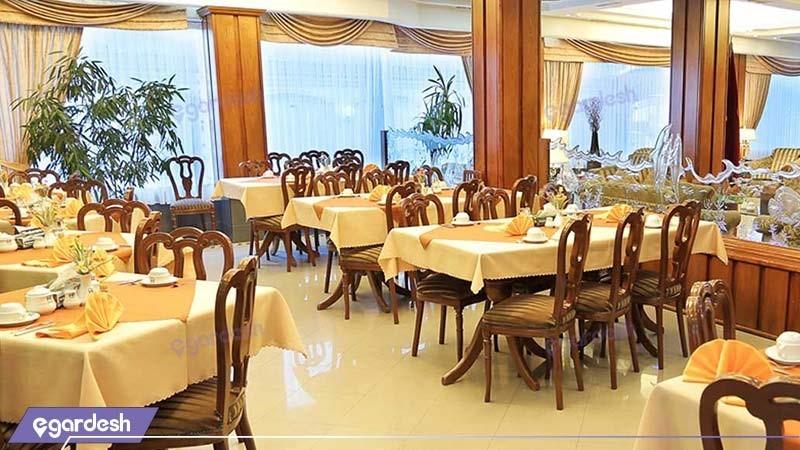رستوران هتل آپارتمان پرنیان مشهد