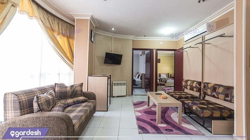 آپارتمان کانکت دو خوابه هتل آپارتمان قصر آیدین