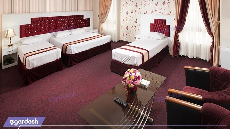 سوئیت یک خوابه هتل رضویه