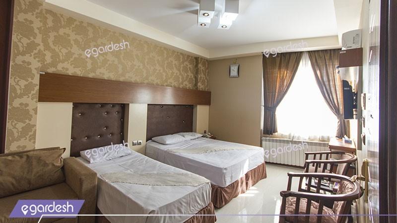 اتاق سه تخته هتل رسالت