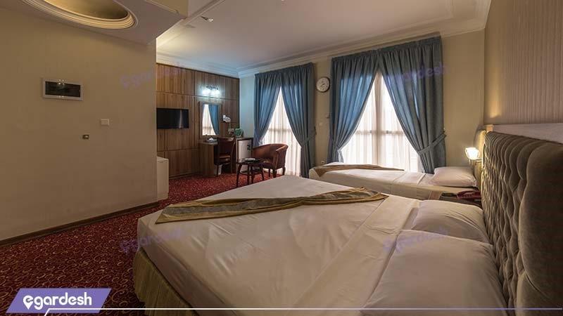 اتاق سه تخته هتل صادقیه