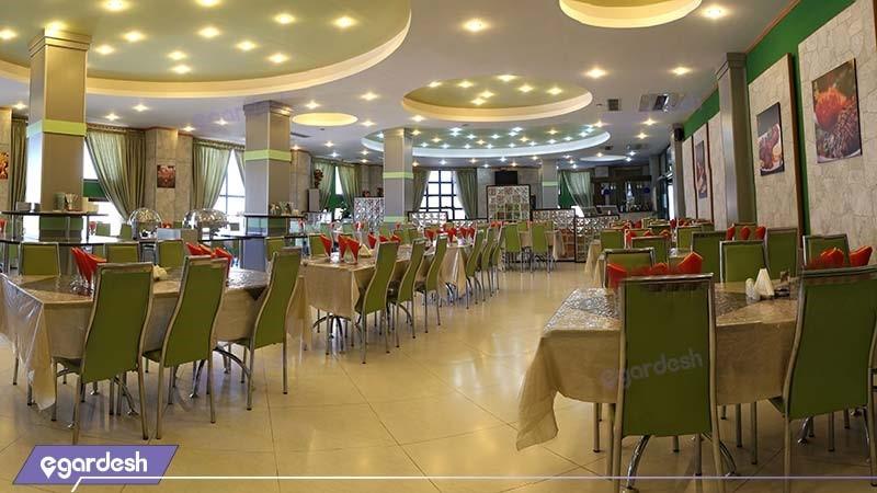 رستوران هتل ساحلی پردیس