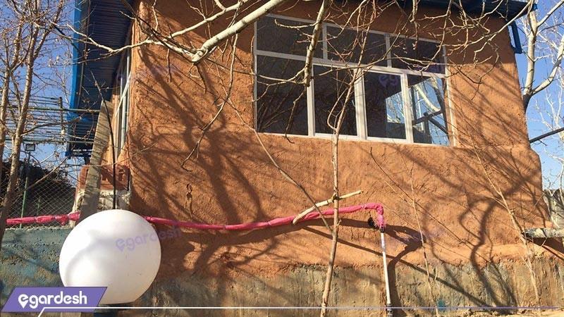 نمای ساختمان اقامتگاه بوم گردی شاهدان