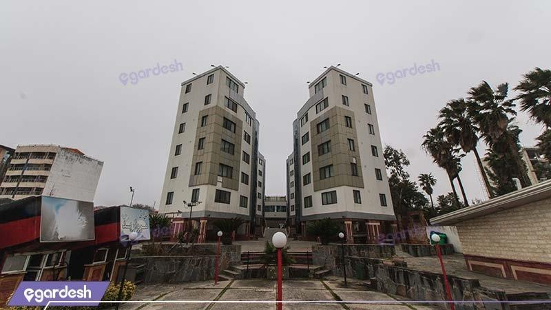 نمای ساختمان هتل آپارتمان آریان