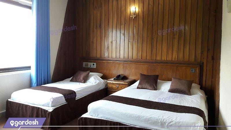 اتاق سه تخته هتل صدف