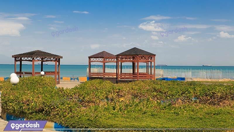 آلاچیق هتل ساحلی خلیج فارس قشم