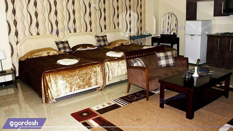 اتاق چهار نفره هتل آپارتمان پلاس
