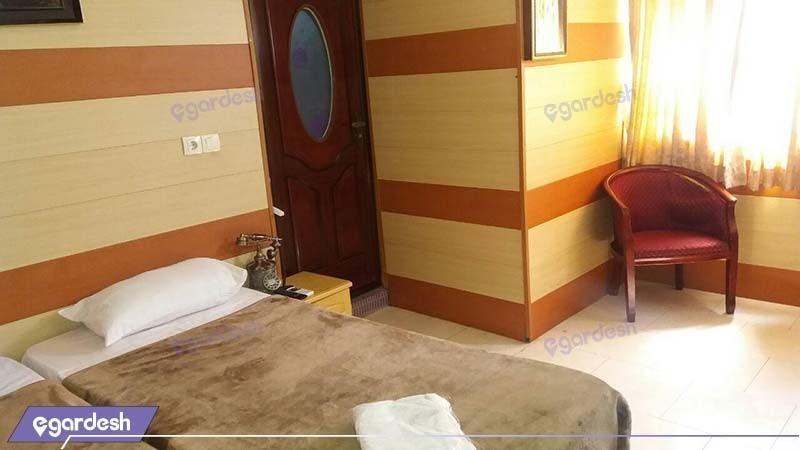اتاق دو نفره هتل شمس قشم