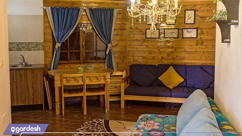 کلبه جنگلی برای شش نفر هتل بام سبز