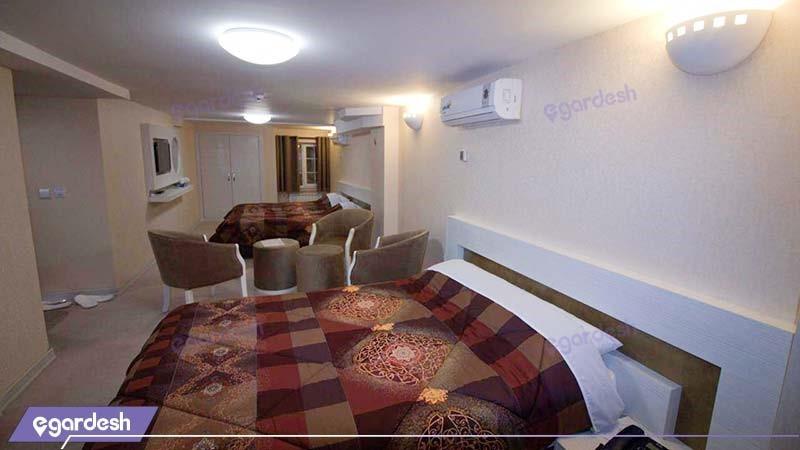 اتاق چهار نفره هتل پامچال رشت