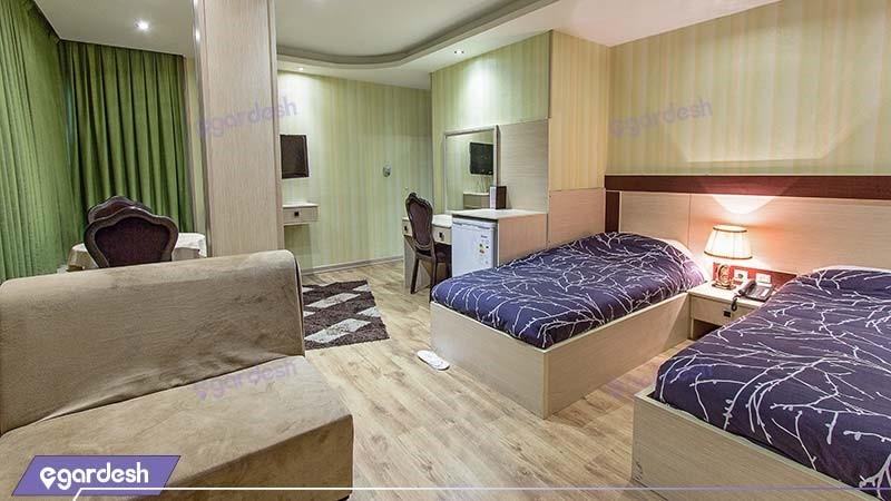 اتاق دو تخته a هتل شبستان