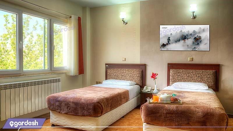 اتاق سه نفره هتل جهانگردی سنندج