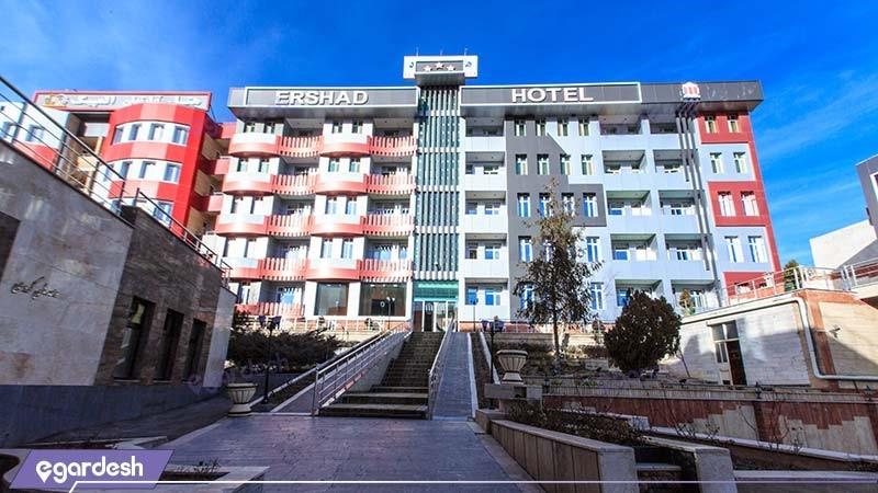 نمای ساختمان هتل آپارتمان ارشاد