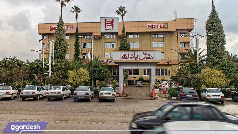 نمای ساختمان هتل بادله