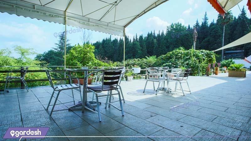 رستوران فضای باز هتل جنگلی سالار دره