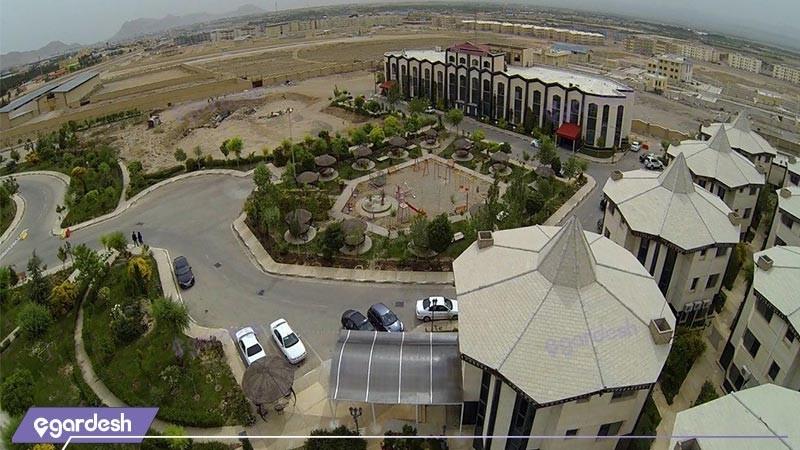نمای هوایی هتل بزرگ پارمیدا