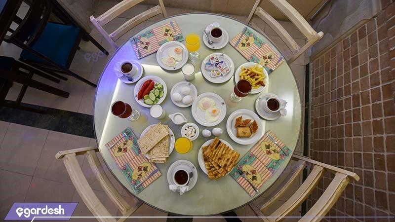 میز صبحانه هتل ارگ