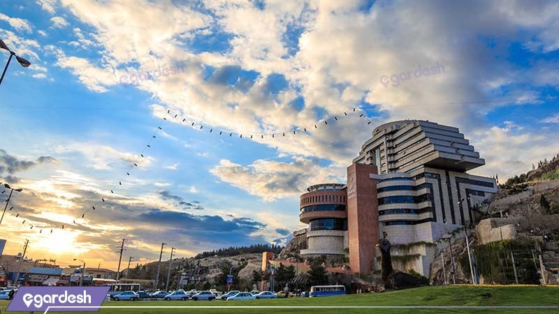 نمای ساختمان هتل بزرگ شیراز