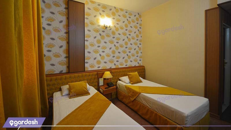 اتاق دو تخته تویین هتل پارک سعدی