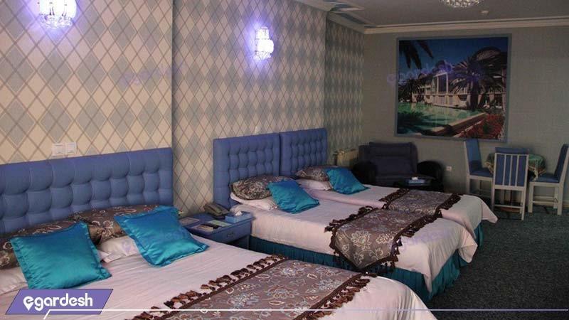 اتاق چهار تخته هتل پارسه