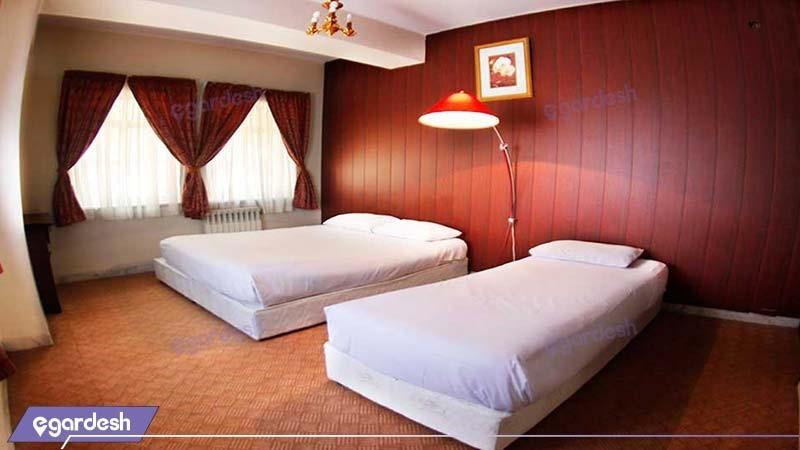 آپارتمان دوخوابه چهارنفره هتل آپارتمان شمس