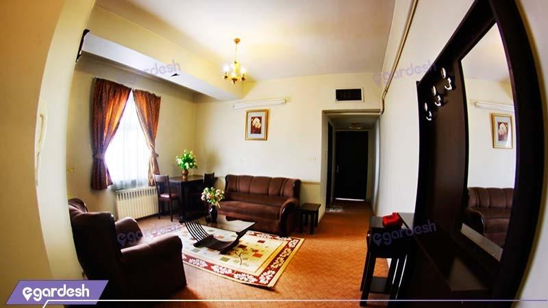 آپارتمان  یک خوابه سه نفره هتل آپارتمان شمس