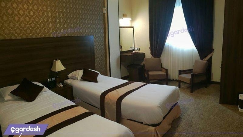 اتاق دو تخته توئین هتل تالار