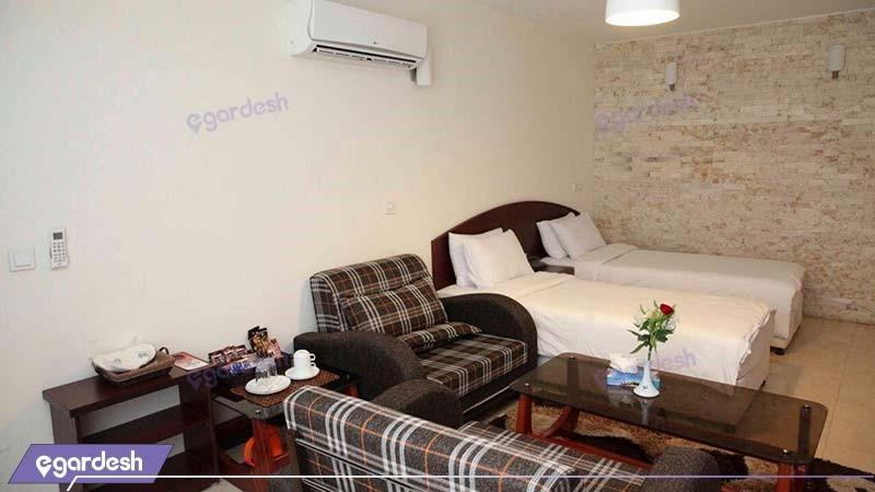 اتاق دو تخته مجتمع جهانگردی شیراز