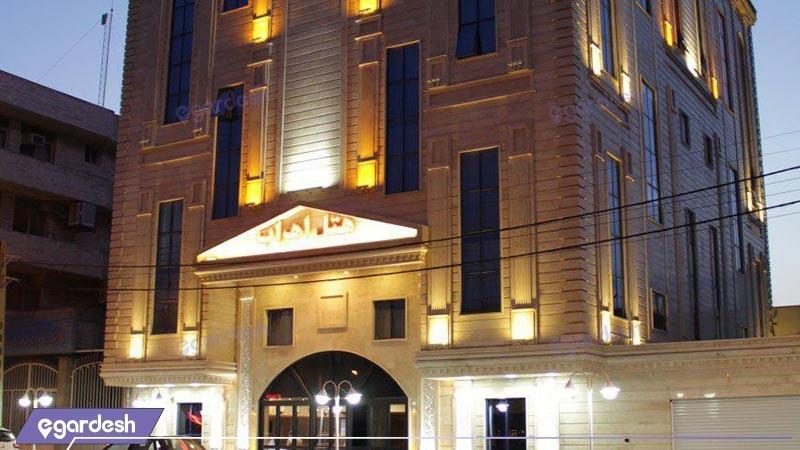 نمای ساختمان هتل اهراب