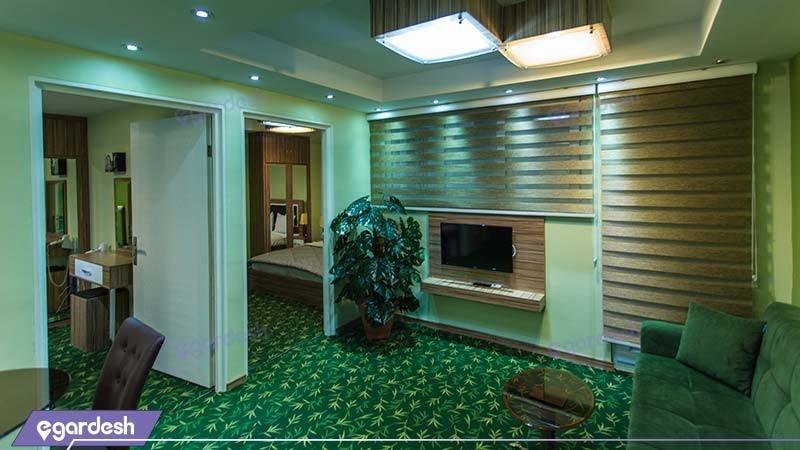 سوئیت با ظرفیت یک تا چهار نفر هتل آپارتمان بهبود