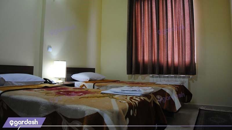 اتاق دو تخته هتل آپارتمان استقبال