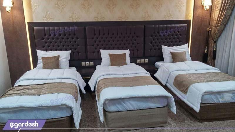 اتاق سه نفره هتل بین المللی گسترش