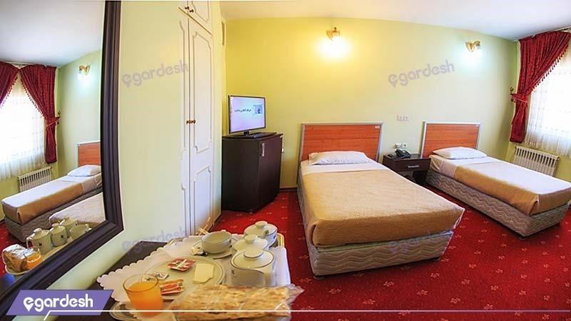 اتاق دو نفره هتل جهانگردی جلفا