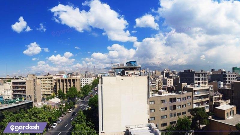 منظره ساختمان هتل البرز