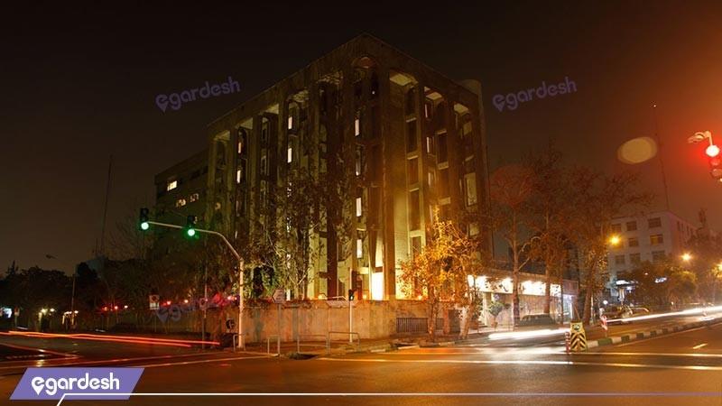 نمای ساختمان هتل البرز