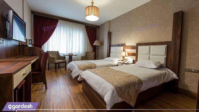 اتاق دو نفره هتل بین المللی بوتیک آرامیس