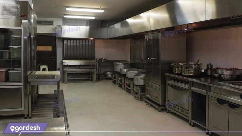 آشپزخانه هتل هتل اسکان الوند