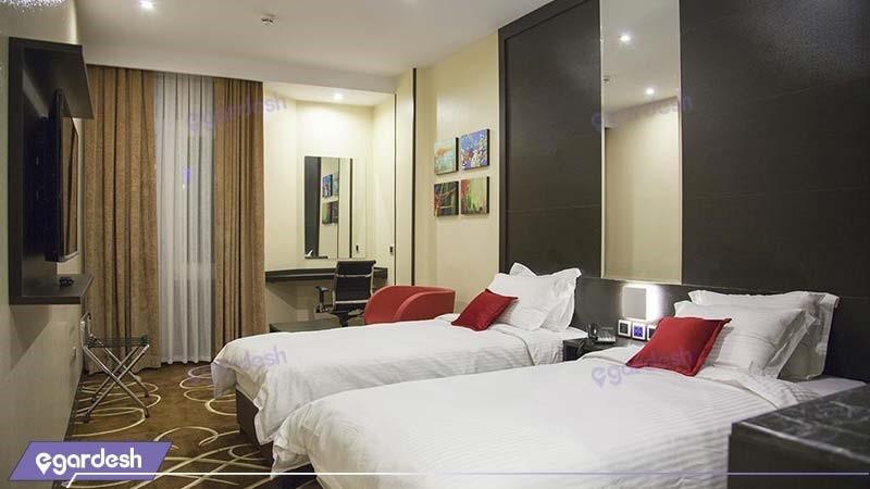 اتاق دو تخته لوکس هتل بزرگ تهران