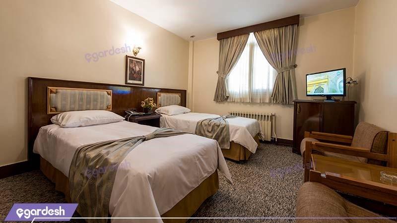 اتاق دو تخته هتل ایرانشهر