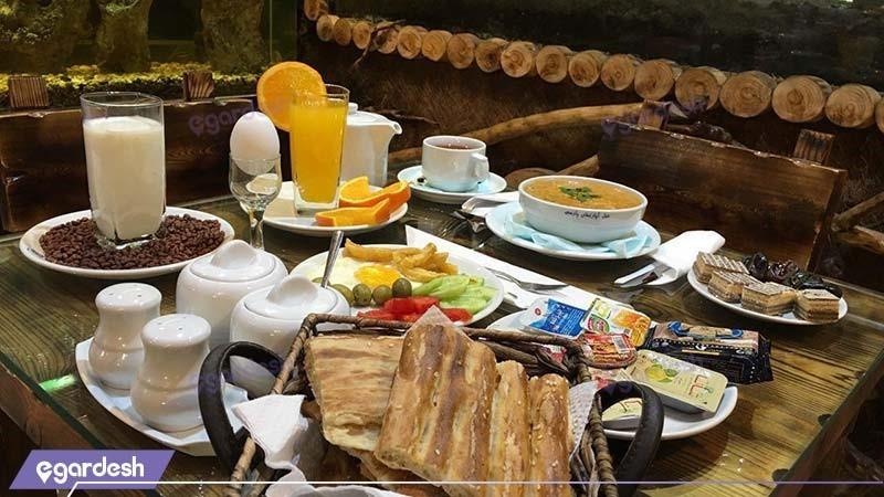 میز صبحانه هتل آپارتمان کیمیا تهران