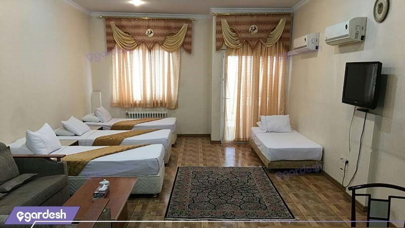 اتاق چهار نفره هتل آپارتمان کیمیا تهران