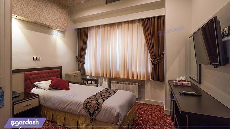 اتاق یک تخته هتل مروارید