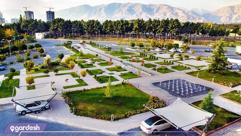 فضای سبز هتل المپیک تهران