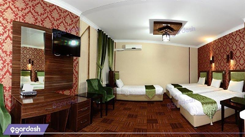 اتاق چهار تخته هتل شهریار