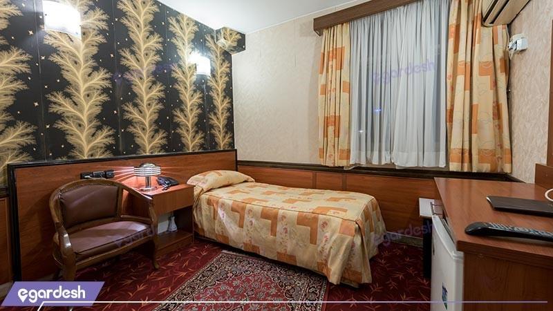 اتاق یک تخته هتل شیراز