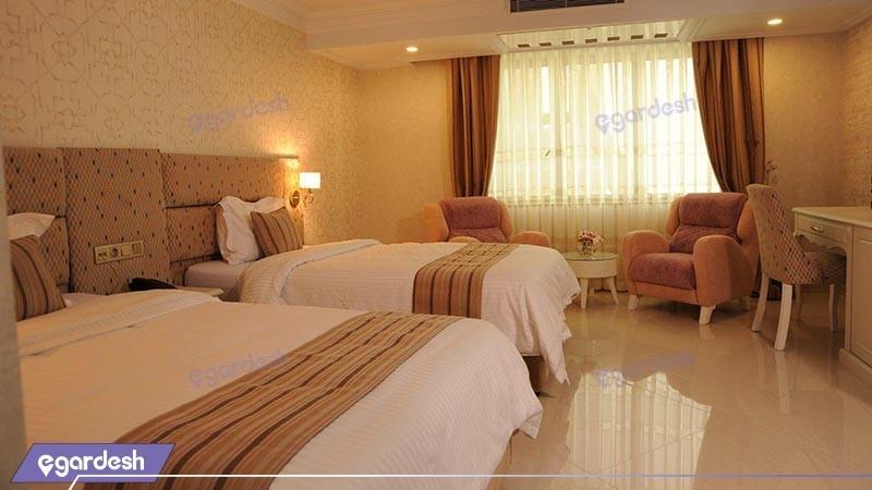 اتاق دو تخته توئین هتل سیمرغ