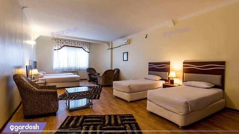 اتاق چهار نفره هتل ورزش