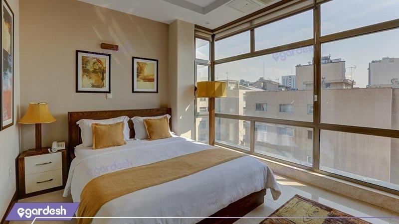 سوئیت یک خوابه هتل آپارتمان وزرا